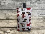 Türstopper mit Katzen in Grau Schwarz Rot