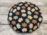 Sitzkissen, Kitakissen in Schwarz Mint Beige mit Blättern und Punkten