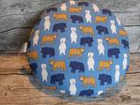 Sitzkissen mit Bären in Blau