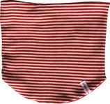 Wende-Loop Schal Ringel Rot-Weiß
