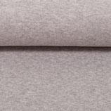 50cm Bündchenstoff in hellgrau melange