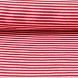 50cm Ringel-Bündchen in rot-weiss