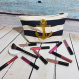 Kosmetiktasche Canvas - Anker mit Seil