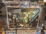 Escape Puzzle 759 Pièces Dans la Cave de l'Effroi