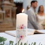 Hochzeitskerze modern individuell nach Kundenwunsch