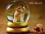 """Postkarte 05 """"Schweinchen - Viel Glück"""""""