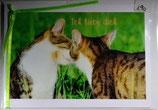 """Doppelkarte 01 - Lucie und Sternchen """" Ich liebe Dich"""""""