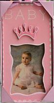 Türschild Baby mit Fotorahmen rosa