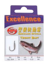 Excellence Trout Bait Hooks - montiert