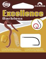Stucki Excellence Universal Barbless Hooks montiert - Vorfach mit Angelhaken