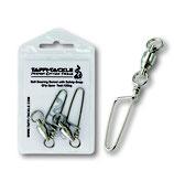 Taffi Tackle Ball Bearing Swivel with Safety Snap (x2) - Kugellager Karabinerwirbel