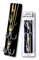 Taffi Tackle Triple Hook Live Bait Rig 98cm  - Waller Fertigvorfach