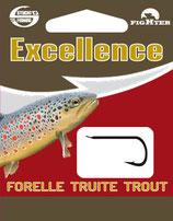Stucki Excellence Trout / Truit Hooks montiert - Vorfach mit Angelhaken