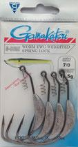 Gamakatsu Worm EWG Weighted Spring Lock - Kunstköderhaken