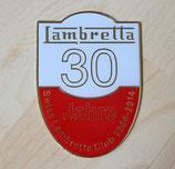 Jubiläumsplakette 30 Jahre Swiss Lambretta Club