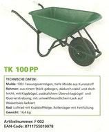 Schiebetruhe 100lt mit PVC Mulde