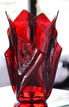Acrylglas Vase groß in rot