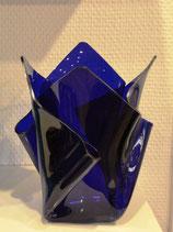 Acrylglas Vase mittel in blau