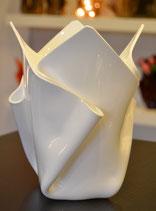 Acrylglas Vase mittel in Porzellan weiß