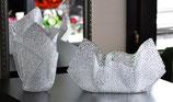 Acrylglas Vasen & Schalen 2-Teile Set - mittel oval in Ice Crush