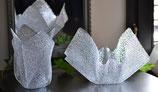 Acrylglas Vasen & Schalen 2-Teile Set - mittel rund in Ice Crush