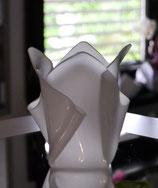 Acrylglas Vase klein in Satin (Milchglas)