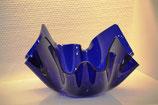Acrylglas Schale mittel rund in blau
