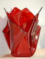 Acrylglas Vase mittel in rot