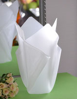 Acrylglas Vase groß in Satin (Milchglas)