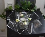 Acrylglas Schalen & Vasen 2-Teile Set-Mix flach - klar
