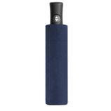 Business Taschenschirm Flipback blau oder schwarz gestreift