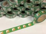 マスキングテープ(フラッグ緑)