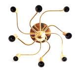 gaetano Sciolari eight arms flush mount / wall lamp for Solken, W.Germany, 1970s
