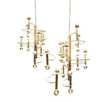 Gaetano Stiolari Long Cascade 12 Arms Chandelier for Boulanger, 1970s