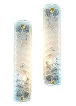 Pair of MURANO Glass Wall Lamps Attributed to BAROVIER & TOSO