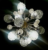 RICHARD ESSIG Large Sputnik 25 Arms Chandelier 1960S