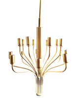 WKR Sixteen arms brass chandelier, 1970s