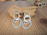 950er Silber Stecker - Ohrringe
