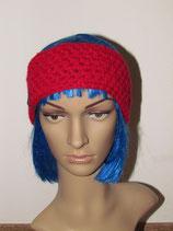 Stirnband in der Farbe rot
