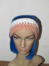Stirnband in den Farben Weiß-rosa