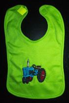 Traktor blau Lätzchen