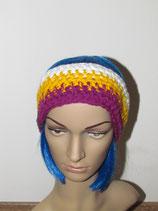 Stirnband in den Farben weiß-gelb-fuchsia