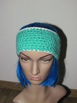 Stirnband in den Farben grün-weiß