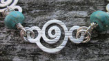 Armkette Spirale mit Türkis