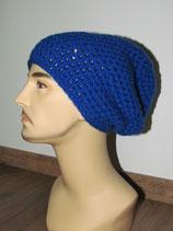 Beanie Mütze in der Farbe blau