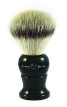 EJ English Shaving Brush, Large, Synthetic, Ebony