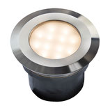 Gavia Einbauleuchte 12V LED 2W - 96x96mm Edelstahl umschaltbar warmweiß / weiß - Techmar Garden Lights / LightPro