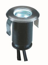 Astrum weiß Einbauleuchte 12V LED 0,5W - Ø40mm Edelstahl - Techmar Garden Lights / LightPro