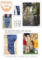Die Cargo Hose Frauen, kurz und lang