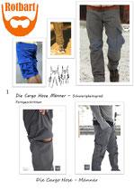 Die Cargo Hose Männer - KOMPLETT (lang und kurz)
